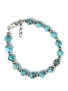 Turquoise Bead Bracelet (BR6328)