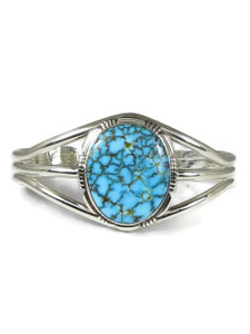 Spider Web Kingman Turquoise Bracelet by Shirley Henry (BR6332)