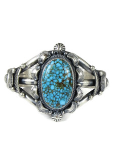 Spider Web Kingman Turquoise Bracelet by Randy Boyd (BR6334)
