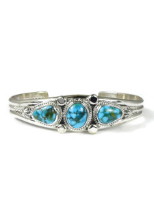 Kingman Turquoise Row Bracelet by Randy Boyd (BR6337)