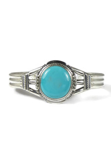 Pilot Mountain Turquoise Bracelet by Brenda Etsitty (BR6341)