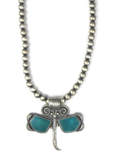 Turquoise Mountain Butterfly Necklace by Randy Boyd (NK4276)