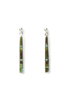 Sculpted Turquoise Inlay Earrings by Rick Julius (ER5664)