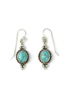Turquoise Gallery Wire Dangle Earrings (ER5678)