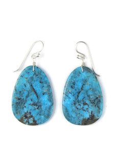 Turquoise Slab Earrings by Ronald Chavez (ER5691)