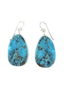 Turquoise Slab Earrings by Ronald Chavez (ER5693)