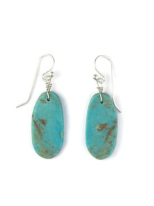 Turquoise Slab Earrings by Ronald Chavez (ER5698)