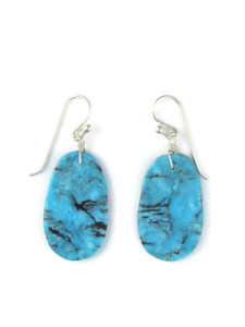 Turquoise Slab Earrings by Ronald Chavez (ER5705)