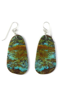Turquoise Slab Earrings by Ronald Chavez (ER5707)