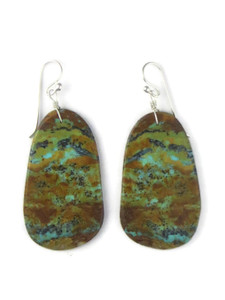 Turquoise Slab Earrings by Ronald Chavez (ER5708)