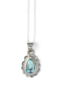 White Water Turquoise Pendant by Burt Francisco (PD4306)