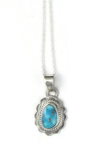 White Water Turquoise Pendant by Burt Francisco (PD4307)