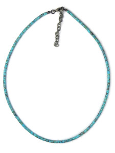 Turquoise Heishi Necklace with Extension Chain by Gloria Tenorio (NK4277)