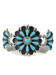 Turquoise Petit Point Flower Bracelet by Delbert Booqua (BR6372)