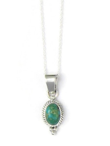 Sonoran Turquoise Pendant by Margaret Platero (PD4312)