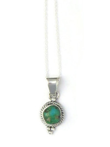 Sonoran Turquoise Pendant by Margaret Platero (PD4313)