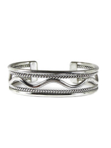 Silver Cuff Bracelet by Elaine Tahe (BR6374)