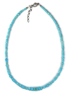 Sleeping Beauty Turquoise Bead Necklace (NK4282)