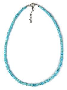 Sleeping Beauty Turquoise Bead Necklace (NK4283)