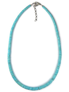 Sleeping Beauty Turquoise Heishi Bead Necklace (NK4284)