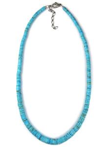 Sleeping Beauty Turquoise Heishi Bead Necklace (NK4285)