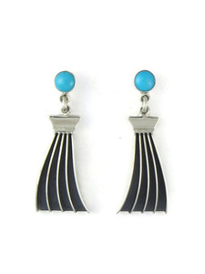 Turquoise Channel Dangle Earrings by James Bahe (ER5730)