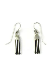 """Silver Channel Earrings 1 1/4"""" by Francis Jones (ER5736)"""