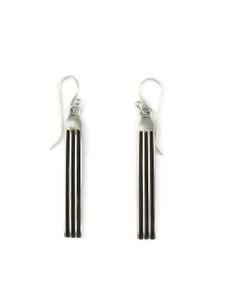 """Silver Channel Earrings 2"""" by Francis Jones (ER5737)"""
