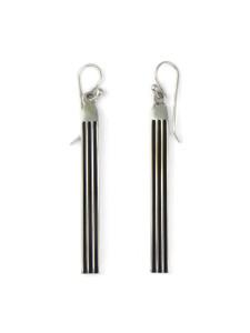 """Silver Channel Earrings 2 1/2"""" by Francis Jones (ER5738)"""
