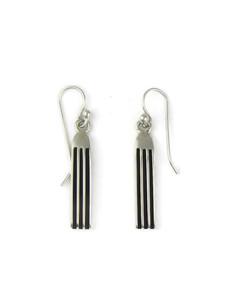 """Silver Channel Earrings 1 1/2"""" by Francis Jones (ER5739)"""