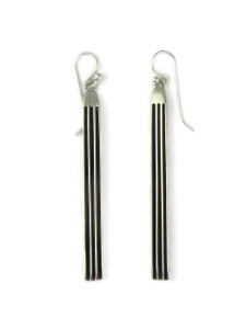 "Silver Channel Earrings 2 3/4"" by Francis Jones (ER5740)"
