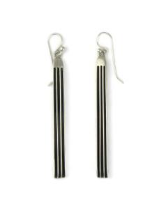 """Silver Channel Earrings 2 3/4"""" by Francis Jones (ER5740)"""