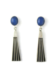 Lapis Silver Channel Earrings by Francis Jones (ER5744)