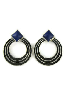 Lapis Silver Channel Earringsi by Francis Jones (ER5745)