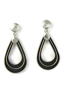 Silver Channel Dangle Earrings by Francis Jones (ER5747)