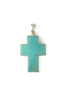 Turquoise Cross Pendant by Bernise Chavez (PD4314)