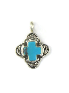 Turquoise Cross Pendant by Elgin Tom (PD4316)