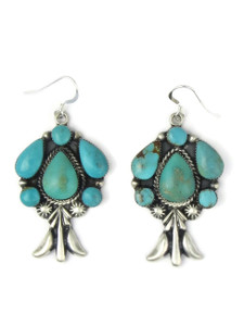 Turquoise Cluster Dangle Earrings by Bobby Platero (ER5651)