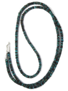 "Long Turquoise Bead Necklace 50"" (NK4864)"