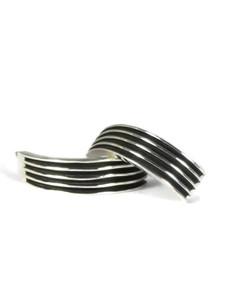 Silver Channel Half Hoop Earrings by Francis Jones (ER5787)