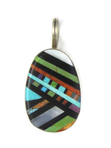 Multi Gemstone Inlay Pendant by Ronald Chavez (PD4319)