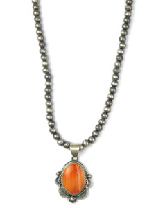 Spiny Oyster Shell Pendant Necklace by Thomas Francisco (NK4869)
