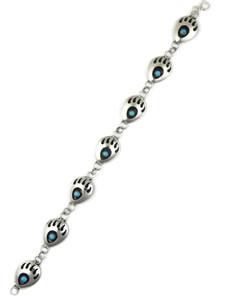 Turquoise Bear Paw Link Bracelet by Leta Parker (BR6388)