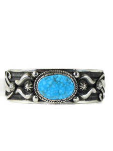 Kingman Turquoise Bracelet - Large by Albert Jake (BR6392)