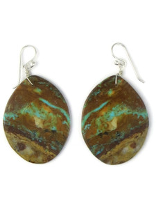 Turquoise Slab Earrings (ER5809)