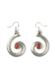 Silver Swirl Coral Earrings by Mildred Parkhurst (ER5812)