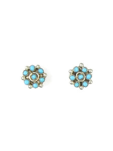Turquoise Snake Eye Post Earrings by Herbert Lastyano (ER5817)