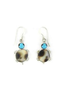 Turquoise & Tortoise Shell Turtle Earrings (ER5818)