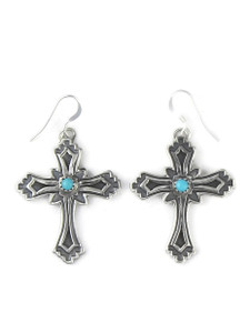 Turquoise Cross Earrings by Louise Joe (ER5819)