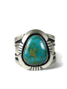 Pilot Mountain Turquoise Ring Size 11 by Cooper Willie (RG5114)